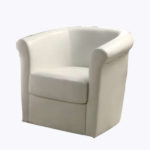 Curved Accent Chair – White
