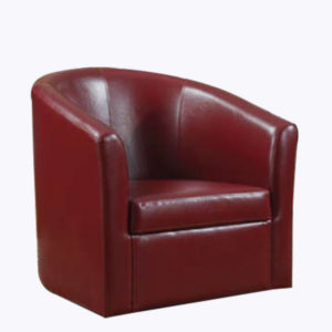Curved Accent Chair – Red