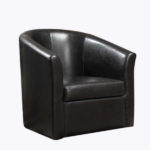 Curved Accent Chair – Black