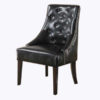 accent chair - tufted black