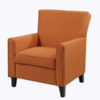 accent chair - orange