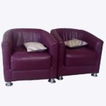 Curved Accent Chair – Purple