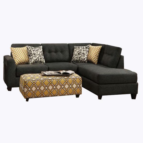 ebony sectional sofa