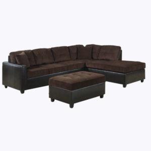 Alayna Sectional Sofa – Chocolate
